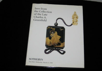1998 SOTHEBY'S  fine  JAPANESE Lacquer Inro Netsuke cases  Auction Catalog