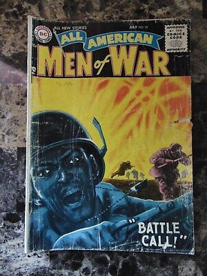 """All American Men of War Issue No.35 July 1956 """"Battle Call!"""""""