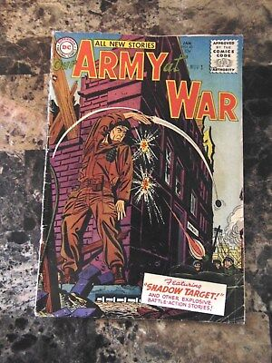 OUR ARMY AT WAR Shadow Targets No.42 January 1956 DC National Comics