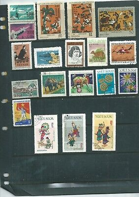 North Vietnam. 1968-1973. Selection Of 19. Very. Fine Used.  As Per Scan