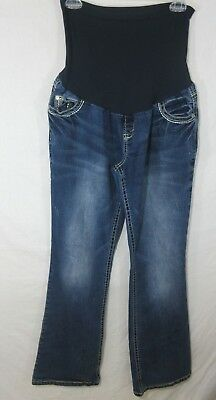 Wallflower Maternity Jeans Sz XL Boot Cut Full Maternity Panel Decorative Pocket