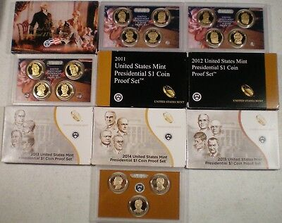 2007 2008 2009 2010 2011 2012 2013 2014 2015 2016 Presidential Dollar Proof Sets