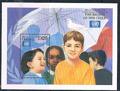 Gambia 1999 Rights of the Child MS SG 3042 MNH