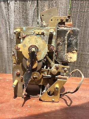 Antique Battery Electric Self Winding Clock Movement, Parts Only