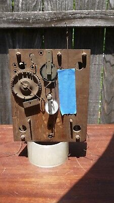 jerome & darrow 8 day wooden works weight driven shelf clock movement project