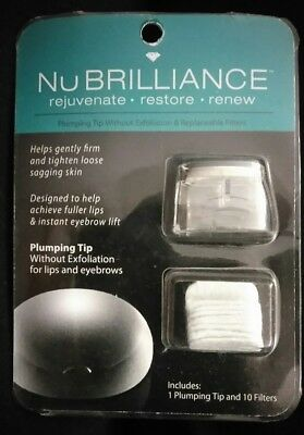 NuBrilliance Plumping Tip & 10 Filters NIP