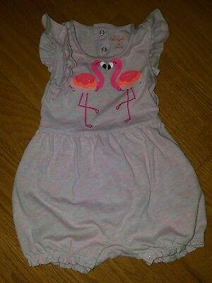 0a1244fe84ca CAT AND JACK baby girl romper size 18 months flamingo -  6.50