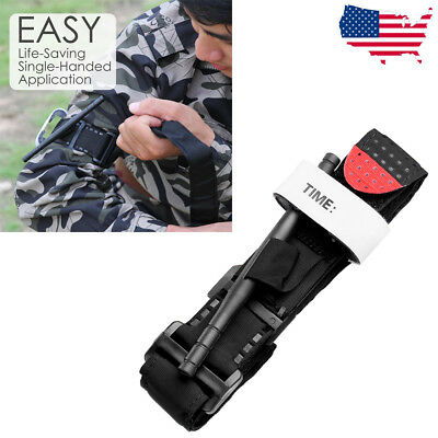 Outdoor One Hand CAT Tourniquet Combat Application First Aid Handed Emergency BK