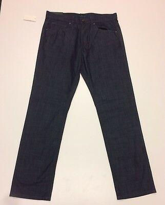 0426e208d9 Perry Ellis NWT Slim Fit Low Rise Straight Leg Dark Indigo Jeans Stretch 32  X 32