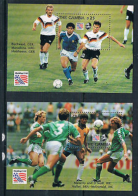 Gambia 1993 World Cup Football  2x MS SG 1710 MNH
