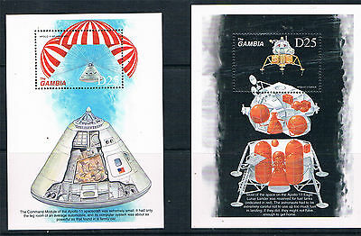 Gambia 1999 Anniv.of Moon Landing 2x MS SG 3054 MNH