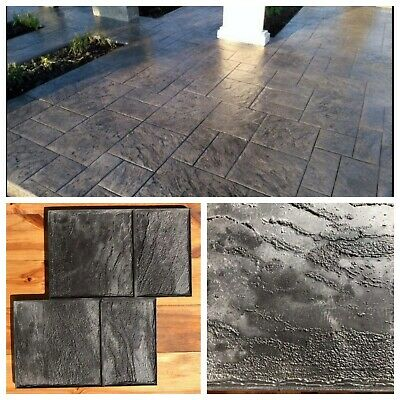 "Concrete texture stamp mat POLYURETHANE for printing on cement  ""Old city №1"""