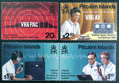 1996 Pitcairn Islands Stamps - Amateur Radio - Set of 4 MNH