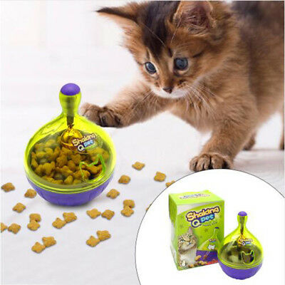 Interactive Cat IQ Treat Ball Toy Smarter Pet Toys Food Ball Food Dispenser
