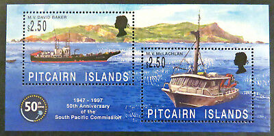 1997 Pitcairn Islands - 50th Anniversary South Pacific Commission-Mini Sheet MNH
