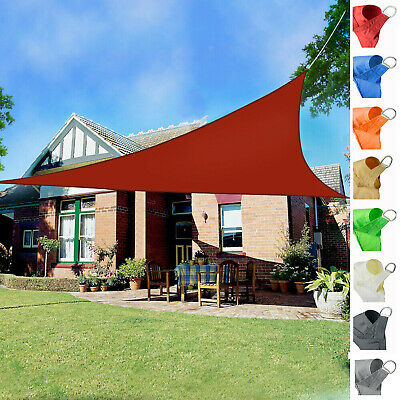 2M Triangle Sun Shade Sail Canopy Patio Garden Awning Shelter With 98% UV Block
