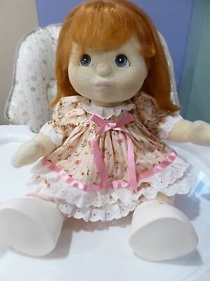 Vintage My Child Doll LONG RED HAIR GREY EYES DRESSED -ORIGINAL SHOES  #3