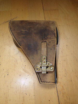 Dutch Ww2 Original Brown Leather Fn Holster