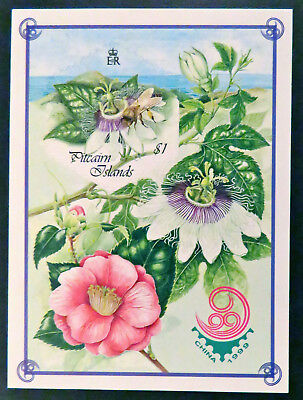 1999 Pitcairn Islands Stamps - Bee Keeping-Self Adhesive Stamps-Mini Sheet MNH