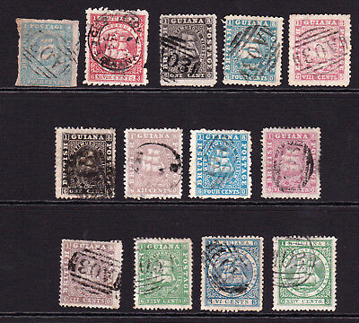 British Guiana. Early Used Selection.