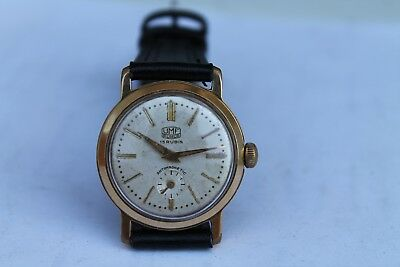 Antique Vintage German Wrist Watch RUHLA Cal. 647 Gold Plated