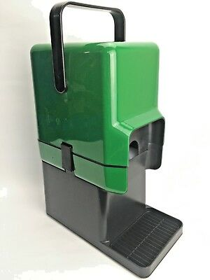 Retro DECOR Bar Cask Wine Cooler With Freezer Bottle Green & Black With Stand