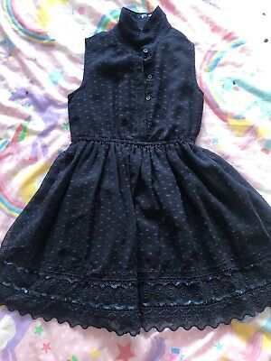 Navy Girls Summer Party Dress Age 7-8