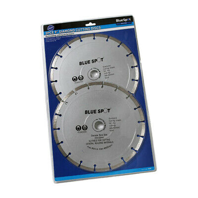 """2 PACK OF 230mm ( 9"""" ) DIAMOND BLADES SEGMENTED ANGLE GRINDER CUTTING DISCS SET"""