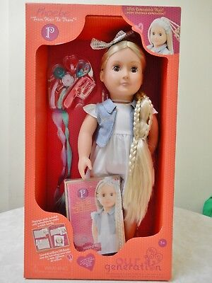 Our Generation Battat Doll Phoebe Extendable Hair + Outfit 18 Ins Brand New Box