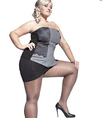 Plus size summer sheer tights 20 denier with special gusset Adrian Kiara