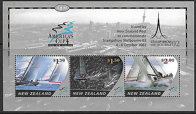 New Zealand 2002 America's Cup opt Melbourne Stamp Exhibition MS  MNH