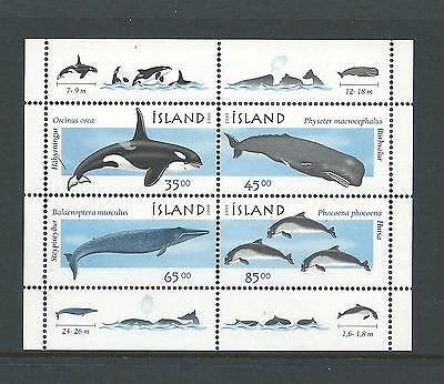 1999 Whales set 4 in Mini Sheet complete MUH/MNH