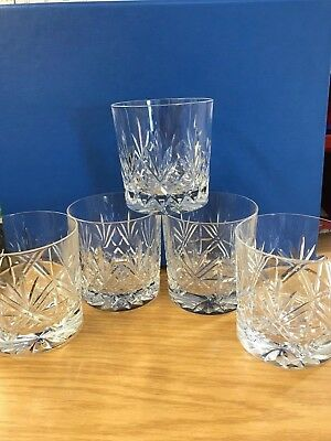 Vintage Edinburgh Crystal Whisky Glasses - Set of 5