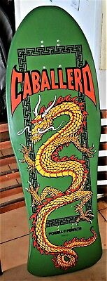 "POWELL PERALTA***Steve Caballero Pro Model""Chinese Dragon""GREEN 10.0"" x 29.75"""