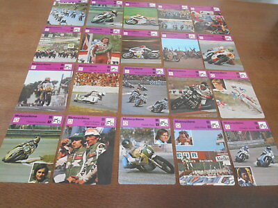 68 Fiches Motocyclisme Editions Rencontre Honda Yamaha Rougerie Pons Agostini