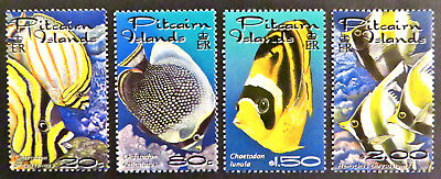 2001 Pitcairn Islands Stamps - Reef Fish - Set of 4 MNH