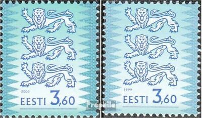 Estonia 356I C,356II C unmounted mint / never hinged 2000 Wappenlöwen