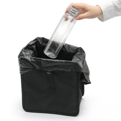 1* 6.5L Car Trash Can Litter Garbage Bin Wastebasket Storage Holder Organizer