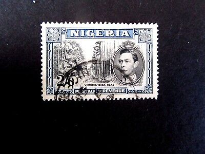 Nigeria #63, George VI, 2 shilling 6 pence, Hi value of set, crease on back