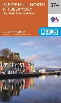 OS Explorer Map (374) Isle of Mull North and Tobermory (Map)