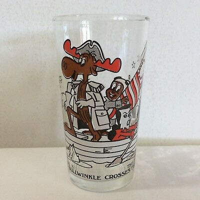 General Bullwinkle Crosses The Deleware Arby's Promo Glass Rocky Boris Natasha