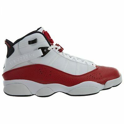 newest bcd5e 2a757 Jordan 6 Rings Mens 322992-120 White University Red Basketball Shoes Size  10.5