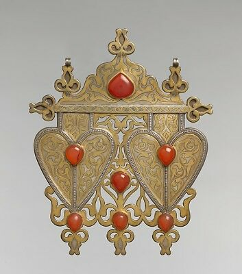 ":Double Cordiform Pendant mid-to late 19th century-16x12""(A3) Poster"