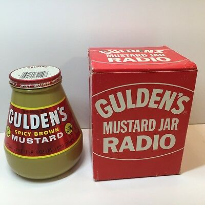 Vintage Gulden's Mustard Jar Radio With Box and Instructions