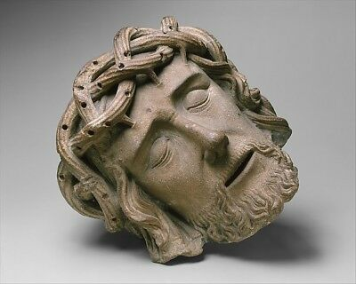":Head of Christ late 15th–early 16th century-16x12""(A3) Poster"