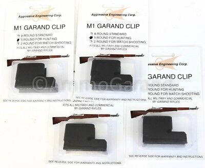 (4x) 5rd Clips for M1 Garand Hunting use New US made AEC 5 Round Clip 5 rd Part