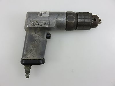 "Snap-On PD3 Air Pneumatic NON-Reversible Drill With 3/8"" Chuck Vintage USA Made"