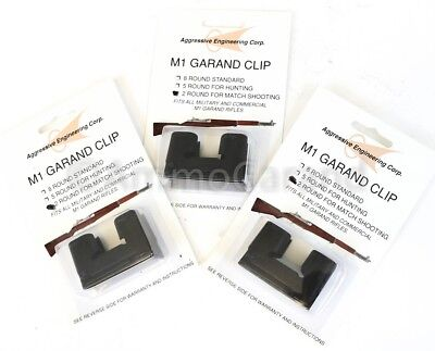 3ea Garand 2 Round Clips National Match for M1 New US 2rd Clip Parts 2 Rd