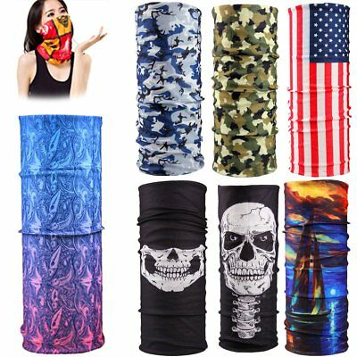 Bandana Face UV Shield Mask Fishing Headwear Biker Neck Tube Scarf Skull Head