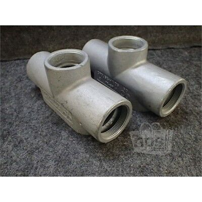 "Lot of 2 Crouse-Hinds TB-67 Conduit Body, 2"", Form 7, Iron"